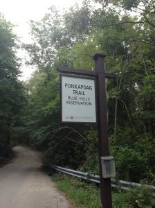 ponkapoag trail sign